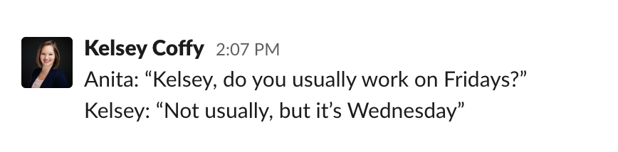 Slack quotable quotes channel