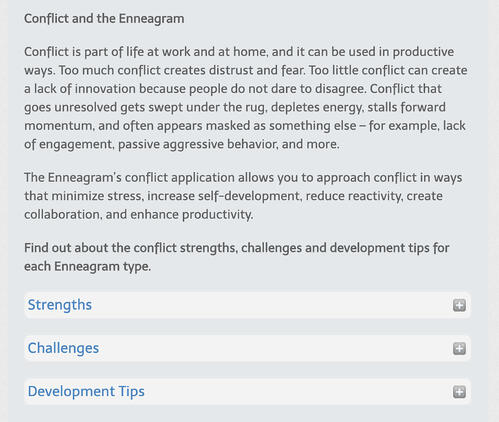 conflict and the enneagram