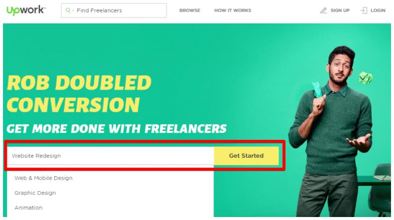 hire upwork freelancer for website redesign