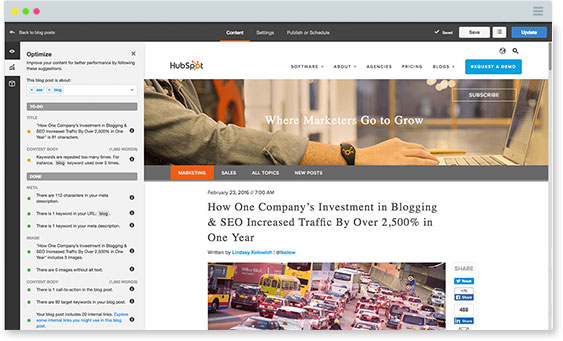Hubspot Blogging Feature