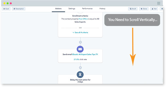 Hubspot Workflows Screenshot
