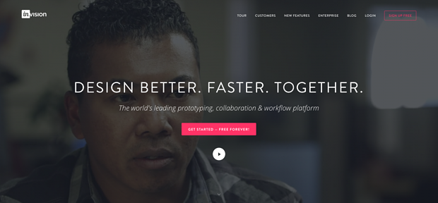 InVision call to action