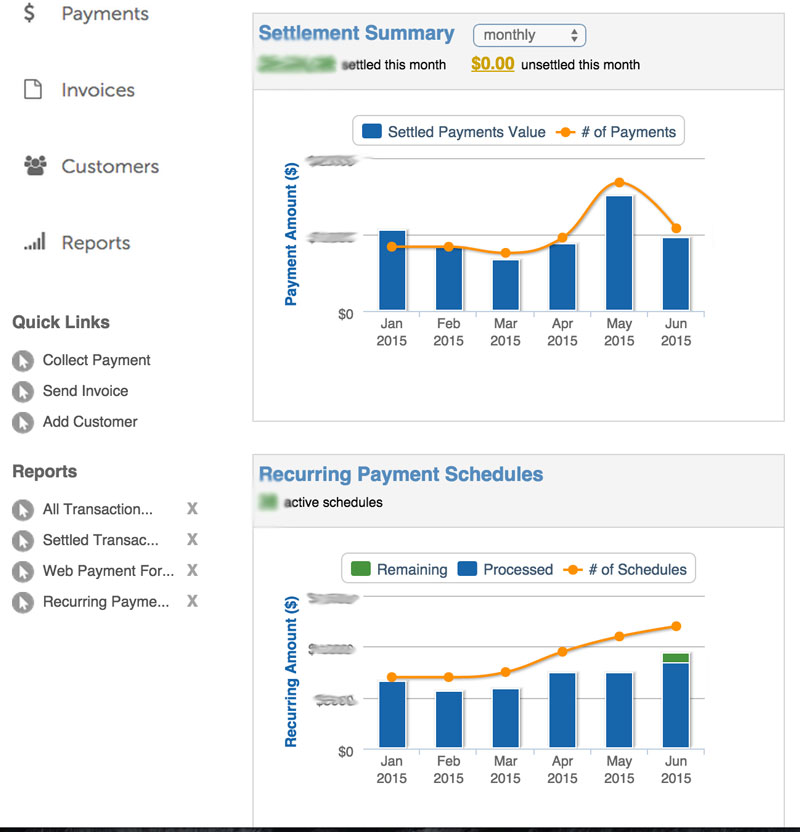 PaySimple Dashboard