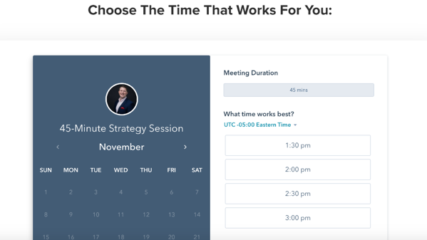 HubSpot meeting scheduling