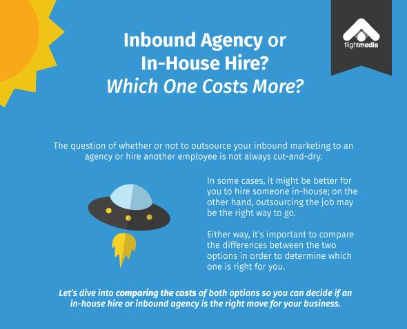 inbound agency or in-house hire infographic